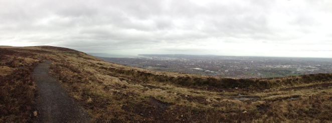 Views of Belfast and further east.