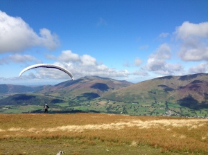 The most scenic descent from Clough Head wasn't on offer!