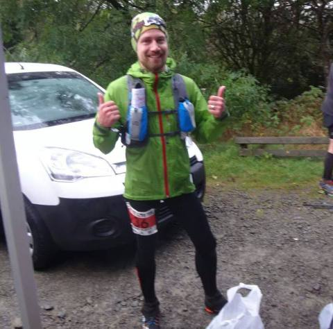 Wet and in good spirits at Wythburn checkpoint.