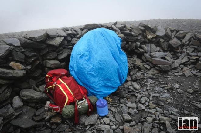 Mrs Simon Banks on top of Skiddaw! Photo by Ian Coreless