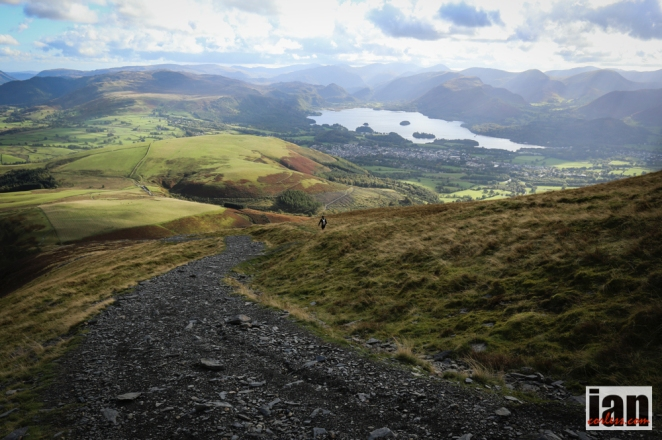 The descent to Latrigg. Photo by Ian Coreless